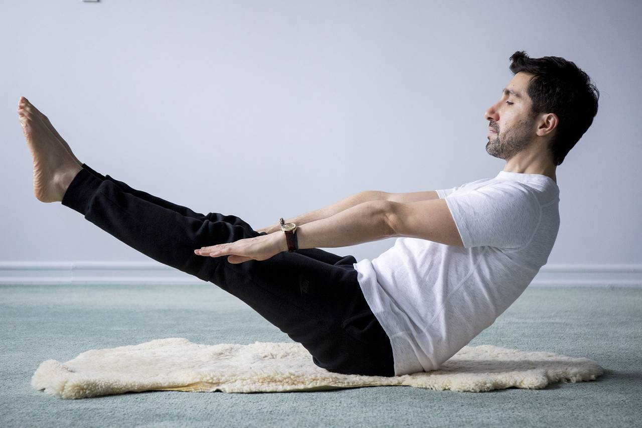Yoga and strength training bring creativity to the table for Table yoga pose
