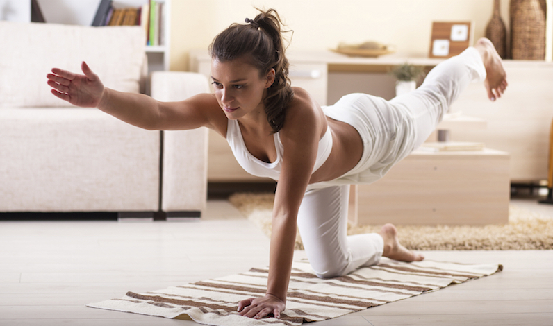 Exercising in a Spacious Room, no equipments.
